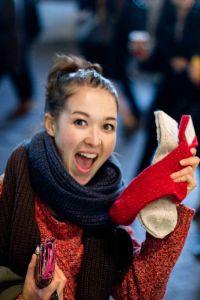 Meg's worthwhile socks.